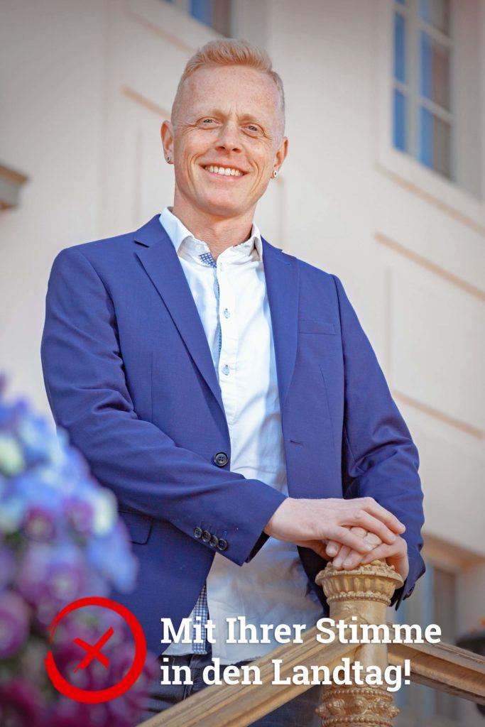 Lars Schieske aus Cottbus tritt für die AfD zur Landtagswahl 2019 in Brandenburg an.
