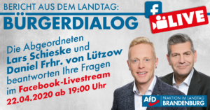 Schieske_Lützow_OBD Bürgerdialo live im Stream aus dem Ladntag Brandenburg