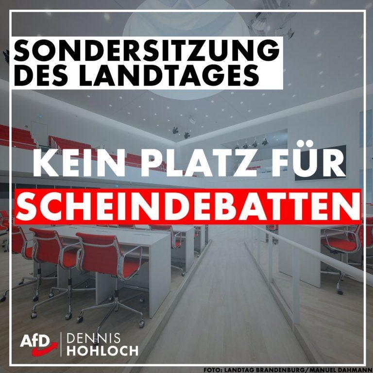 Kein Platz für Scheindebatten im Brandenburger Landtag
